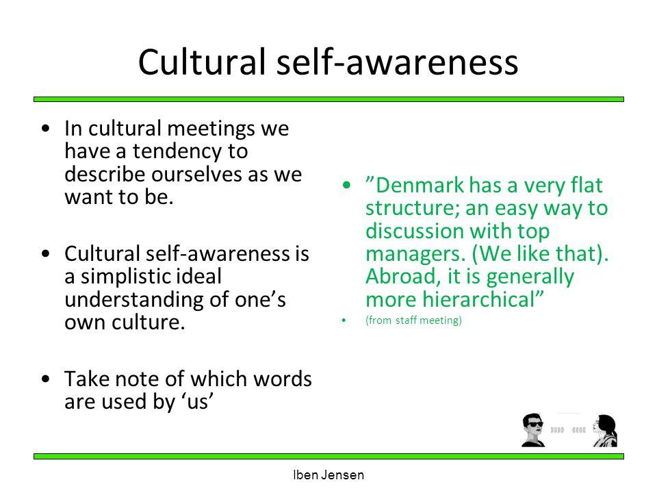 Cultural self-awareness