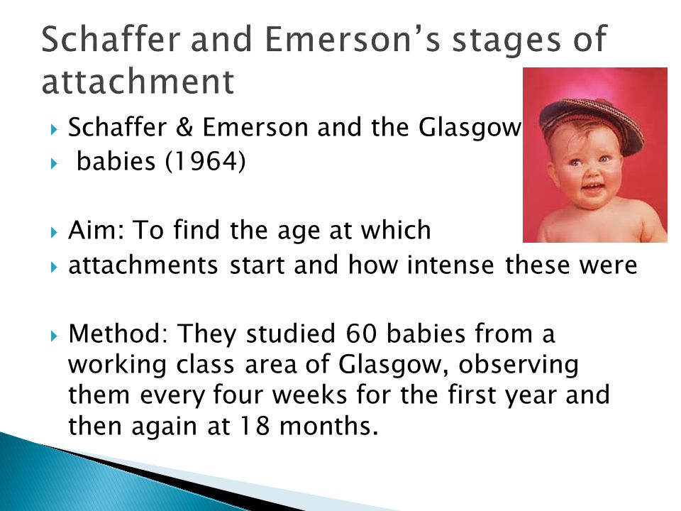 Schaffer and Emerson's stages of attachment