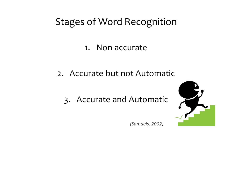 Stages of Word Recognition