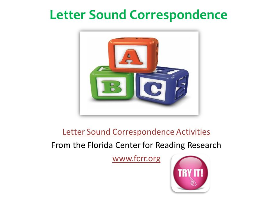 Letter Sound Correspondence