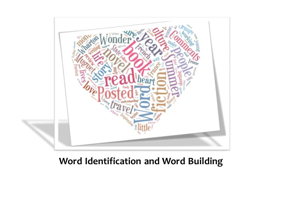 Word Identification and Word Building