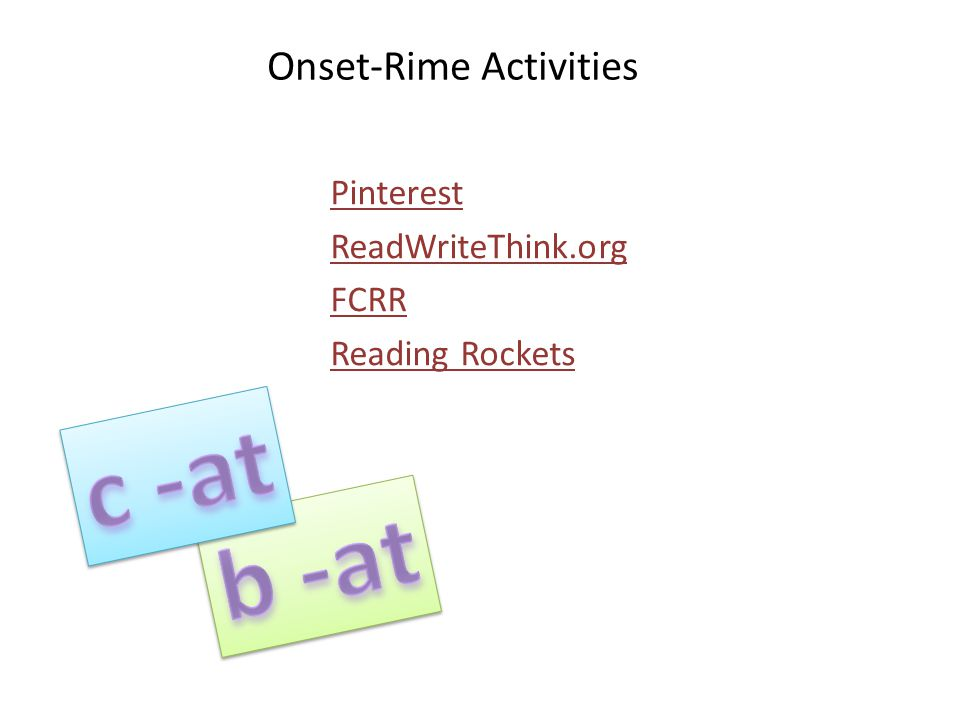 Onset-Rime Activities