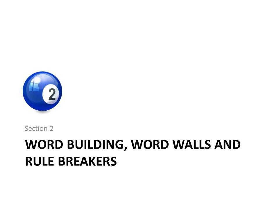 Word Building, Word Walls and Rule Breakers