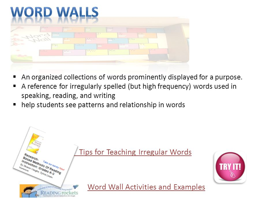 Word Wall Activities and Examples