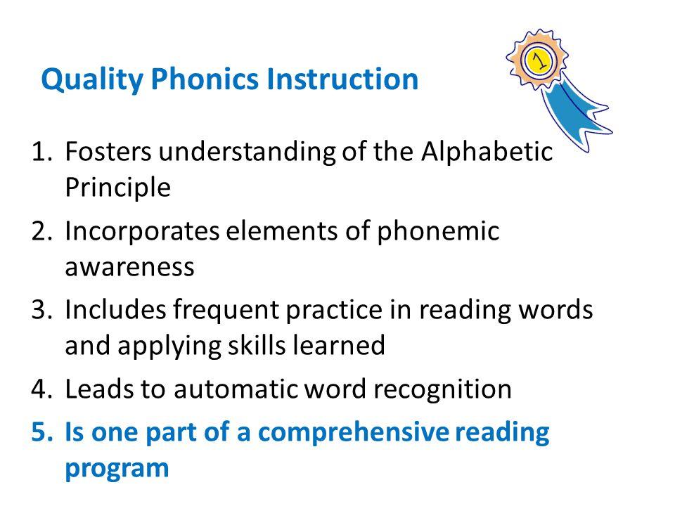 Quality Phonics Instruction