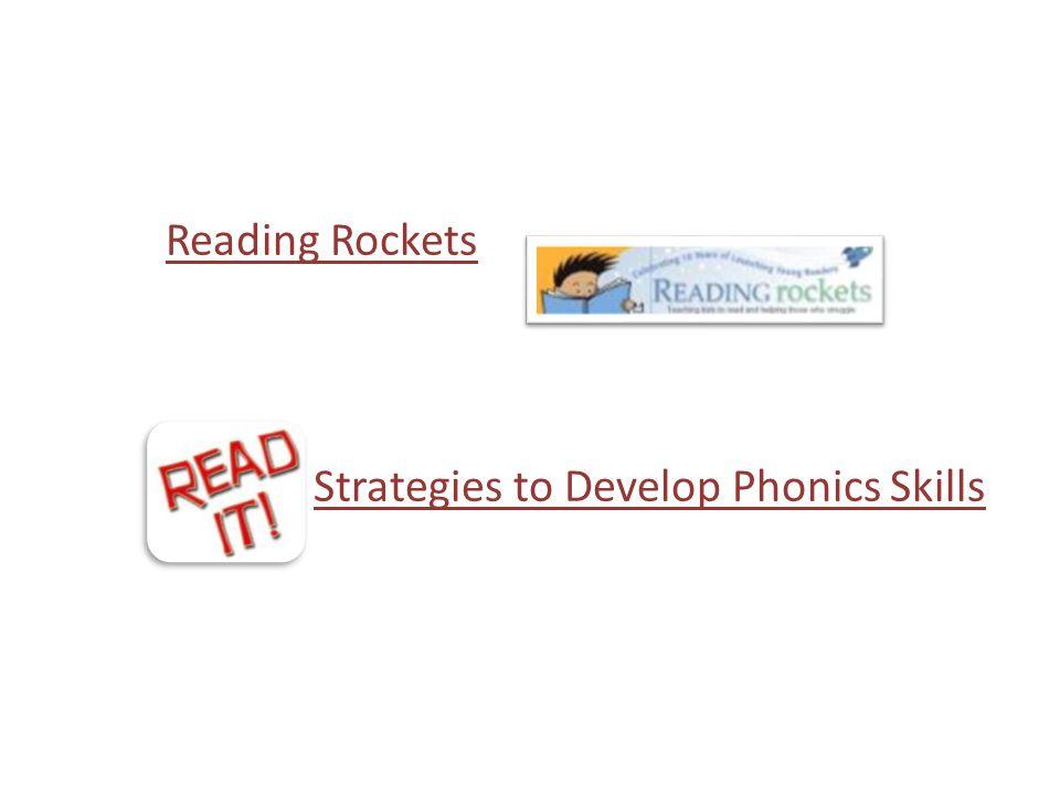 Strategies to Develop Phonics Skills