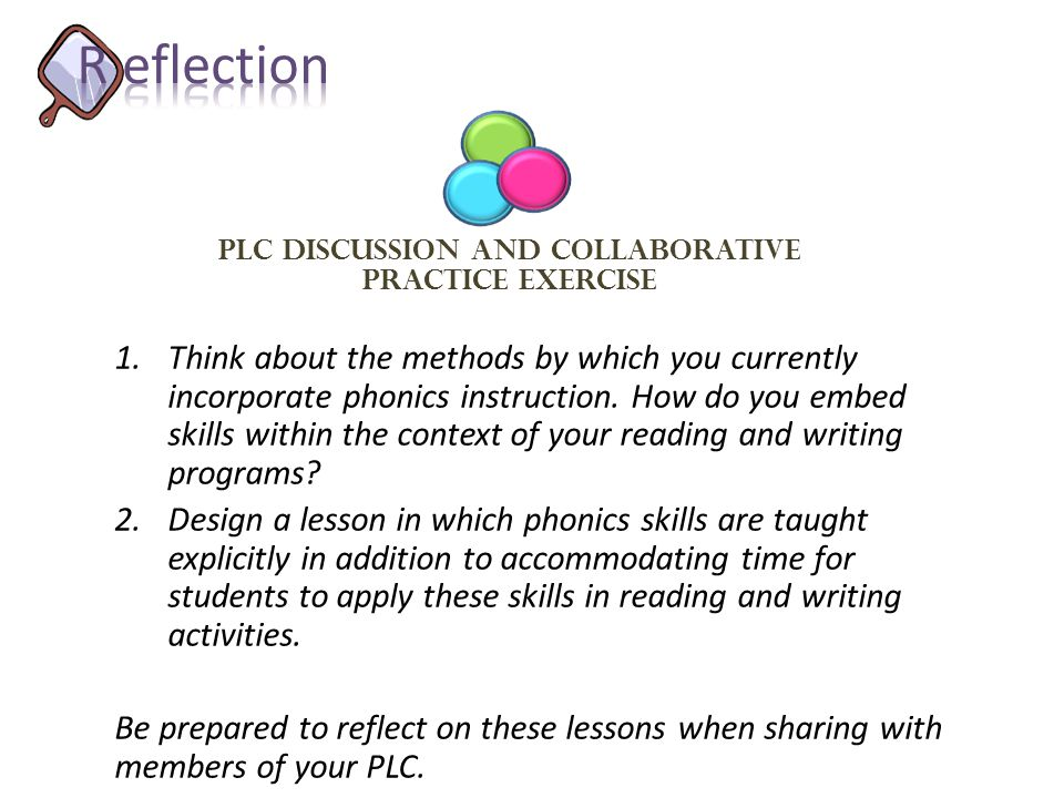 PLC Discussion and collaborative Practice Exercise