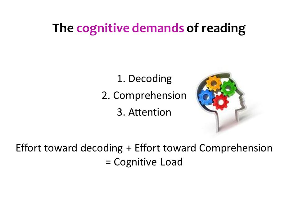The cognitive demands of reading