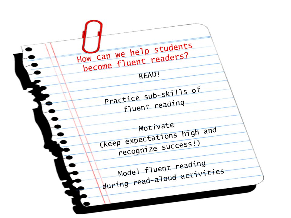How can we help students become fluent readers