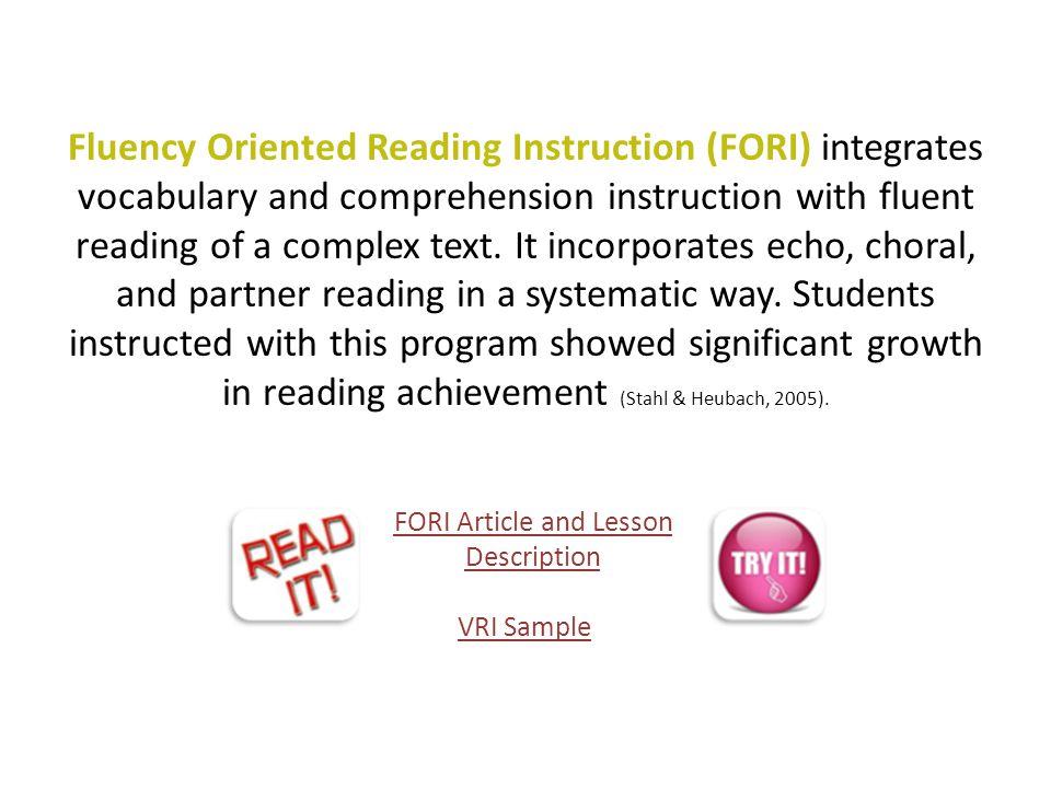 FORI Article and Lesson Description