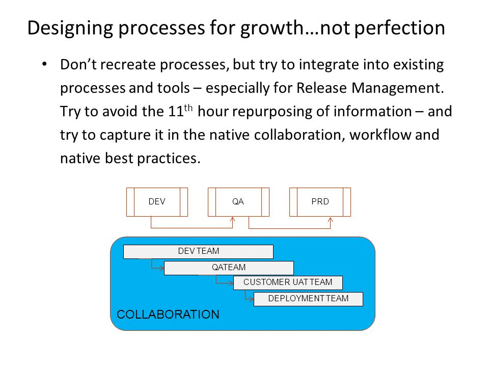 Designing processes for growth…not perfection