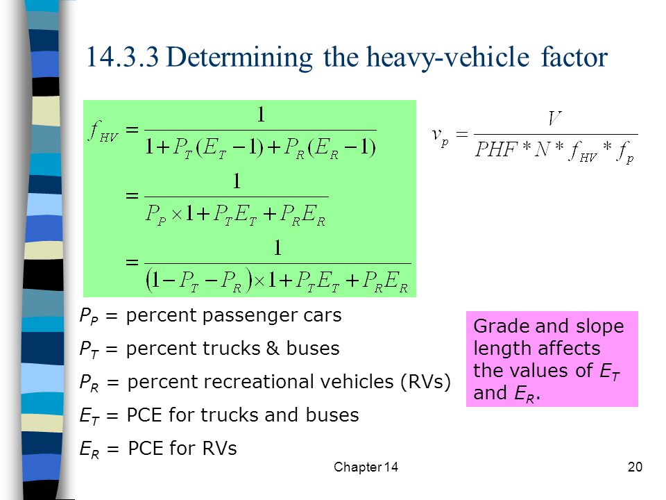 14.3.3 Determining the heavy-vehicle factor