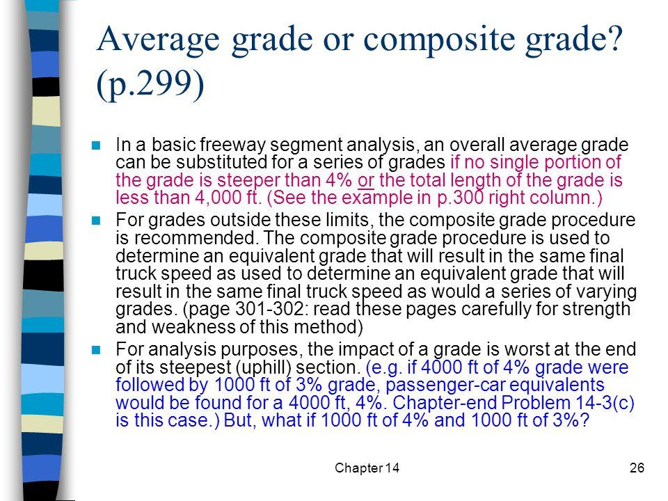 Average grade or composite grade (p.299)