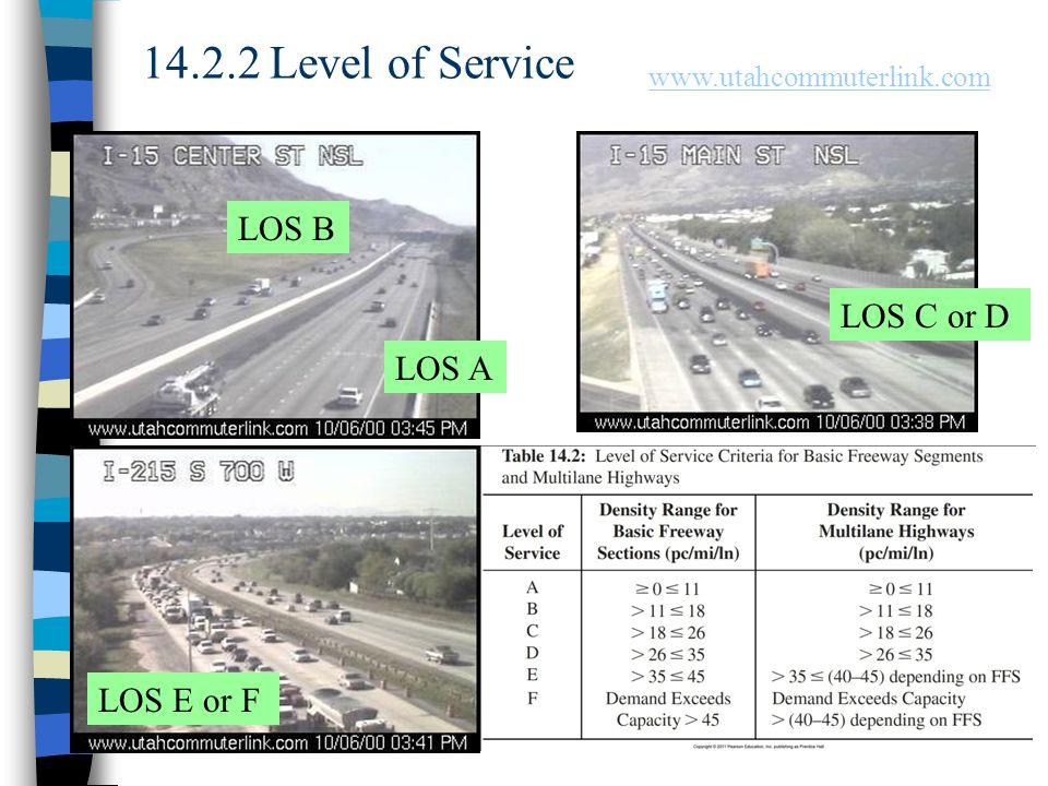 14.2.2 Level of Service LOS B LOS C or D LOS A LOS E or F