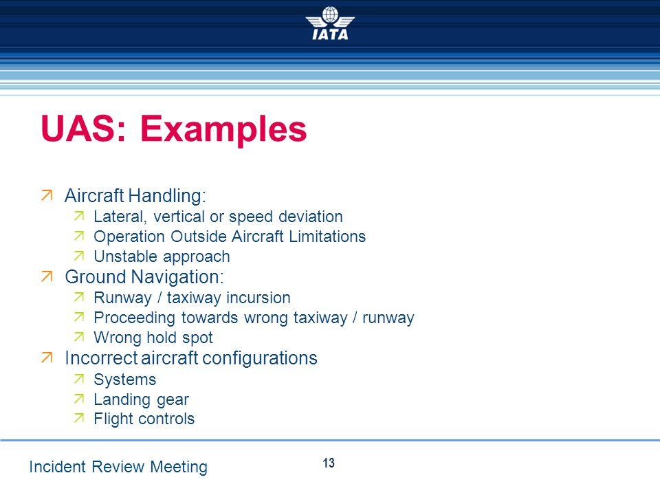 UAS: Examples Aircraft Handling: Ground Navigation: