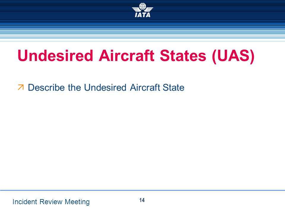 Undesired Aircraft States (UAS)