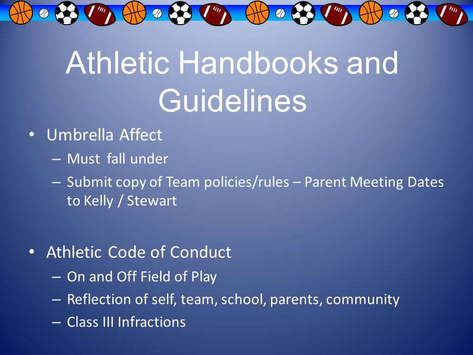 Athletic Handbooks and Guidelines