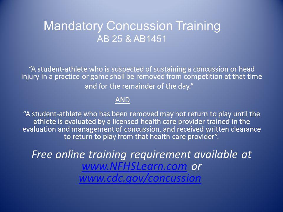 Mandatory Concussion Training