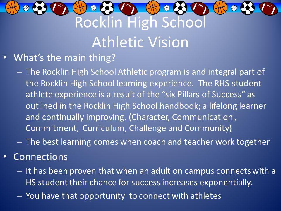 Rocklin High School Athletic Vision