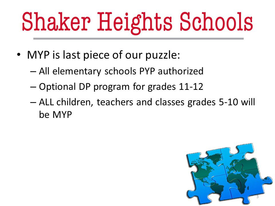 MYP is last piece of our puzzle: