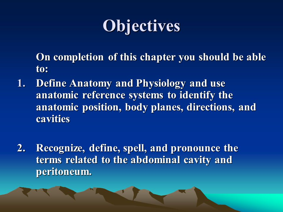 Objectives On completion of this chapter you should be able to: