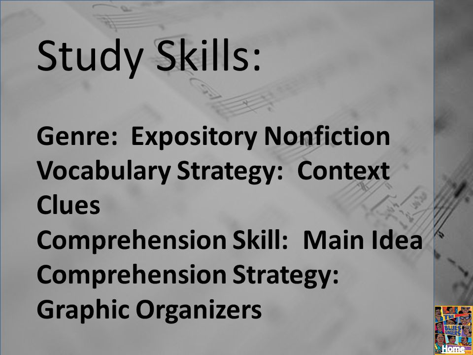 Study Skills: Genre: Expository Nonfiction