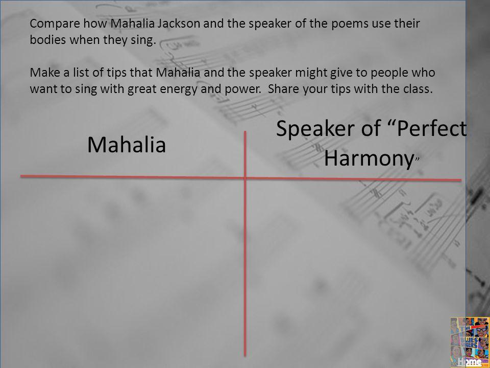 Speaker of Perfect Harmony