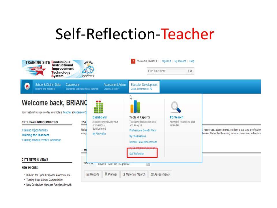 Self-Reflection-Teacher