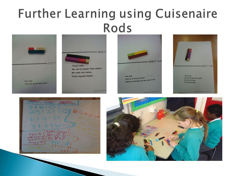 Further Learning using Cuisenaire Rods