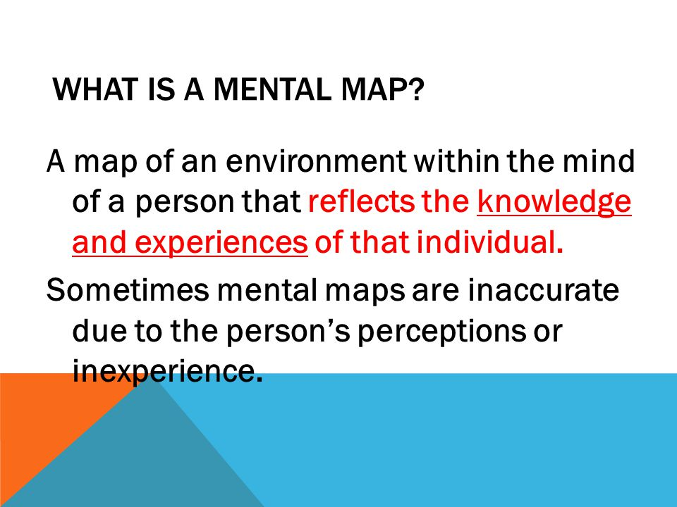 What is a mental map