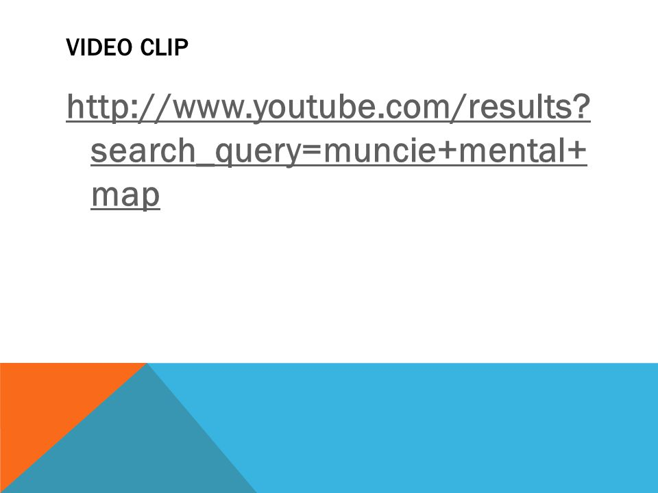 http://www.youtube.com/results search_query=muncie+mental+ map
