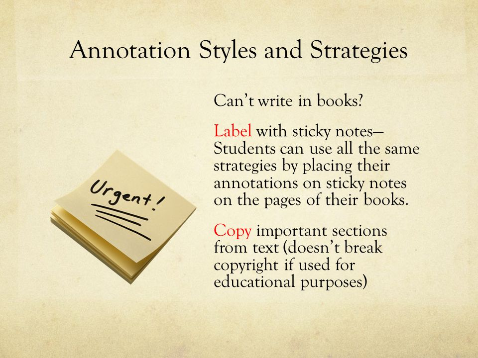 Annotation Styles and Strategies