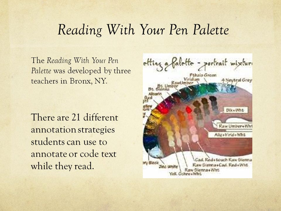 Reading With Your Pen Palette