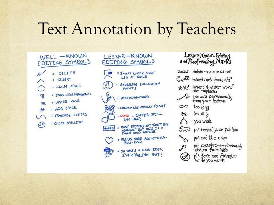 Text Annotation by Teachers