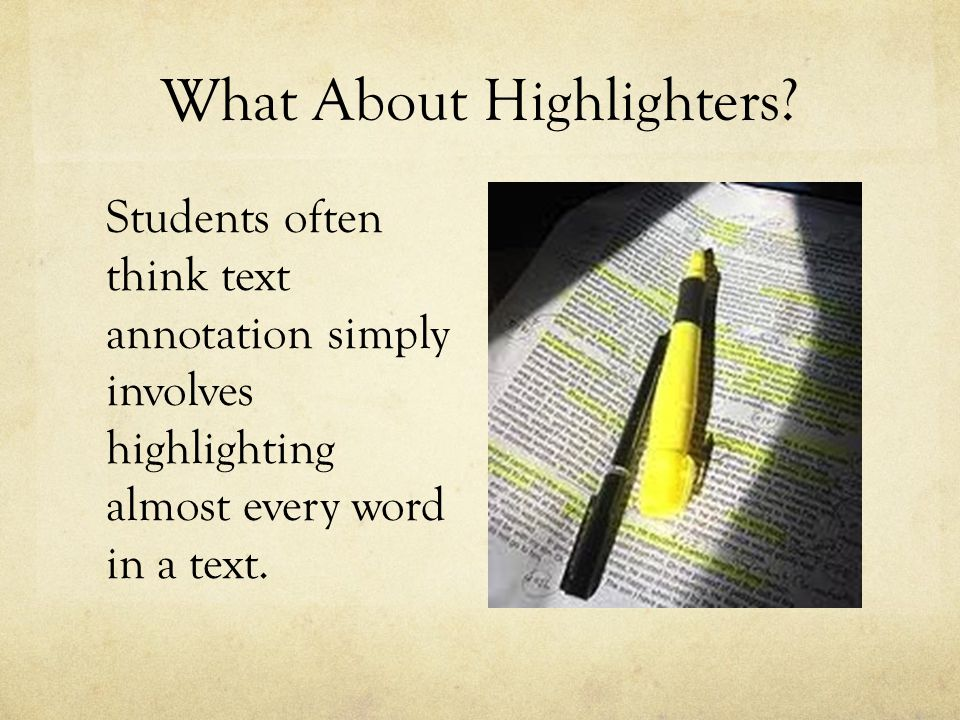 What About Highlighters
