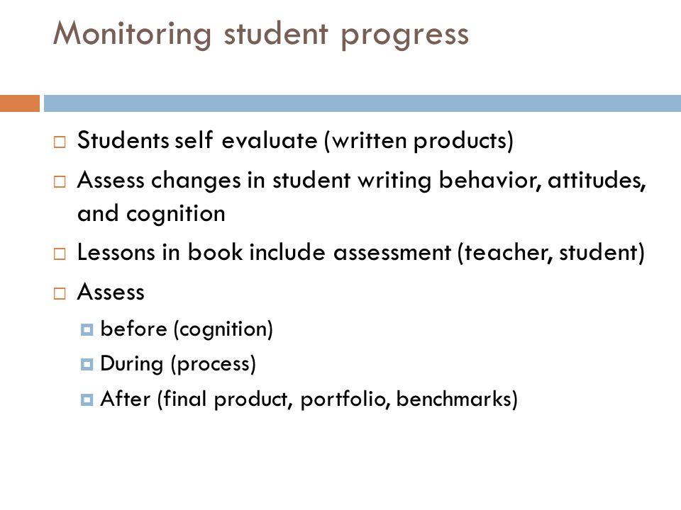 Monitoring student progress