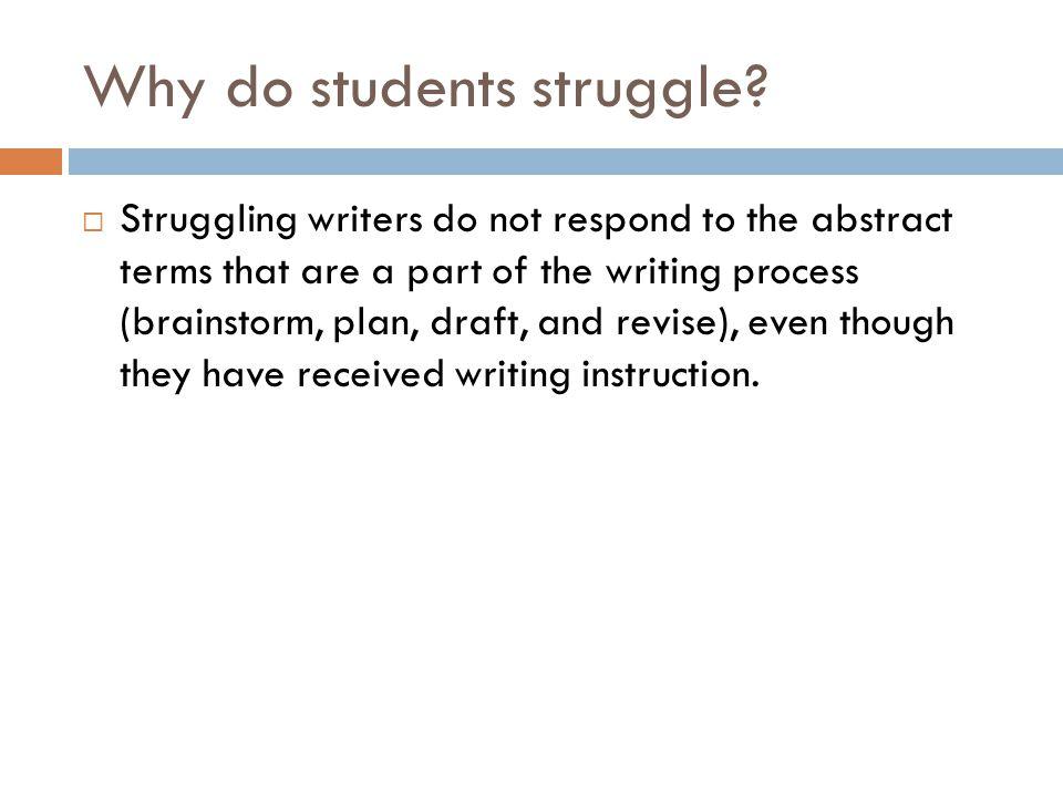Why do students struggle