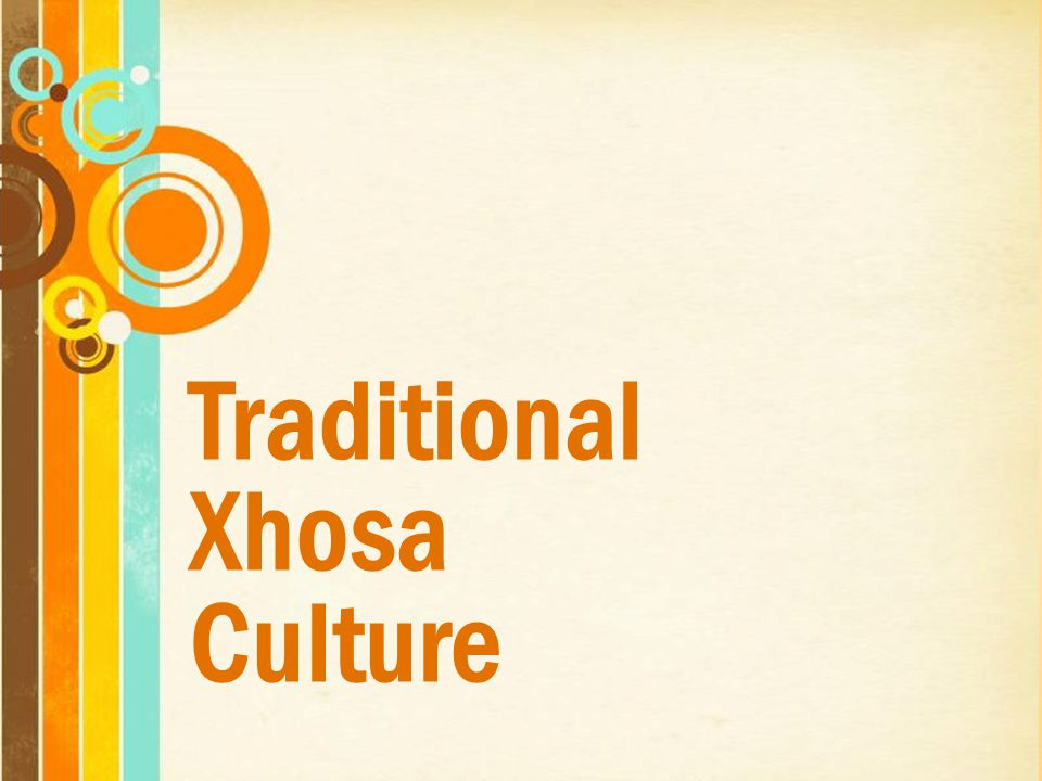 Traditional Xhosa Culture Free Powerpoint Templates