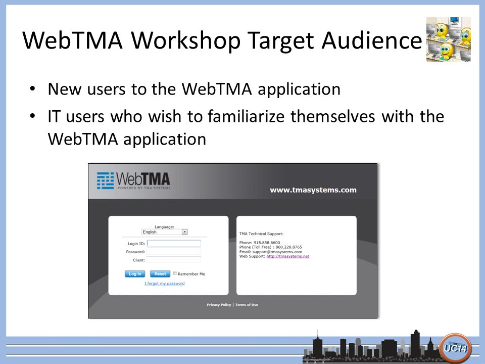 WebTMA Workshop Target Audience