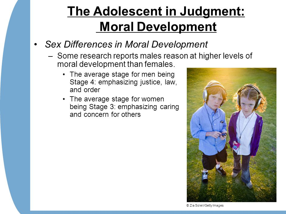 The Adolescent in Judgment: Moral Development