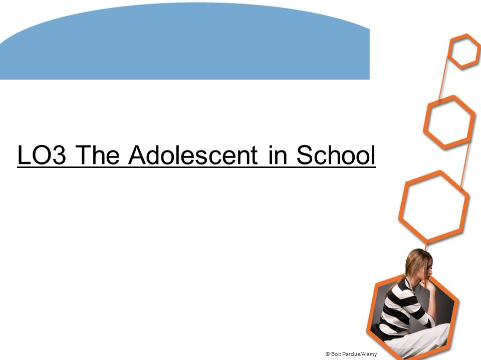 LO3 The Adolescent in School
