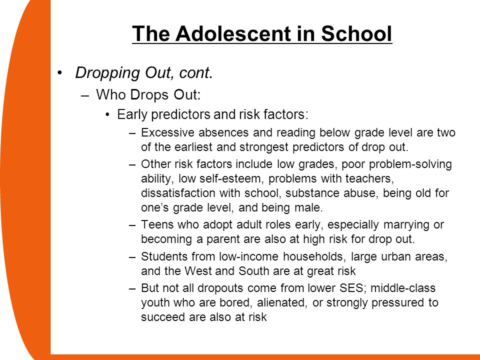 drop out risk factors in high Ty - jour t1 - a strategy for assessing the impact of time-varying family risk factors on high school dropout au - randolph,karen a au - fraser,mark w.