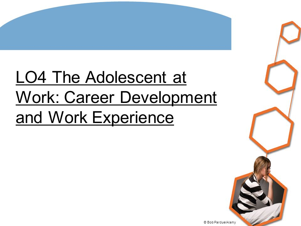 LO4 The Adolescent at Work: Career Development and Work Experience