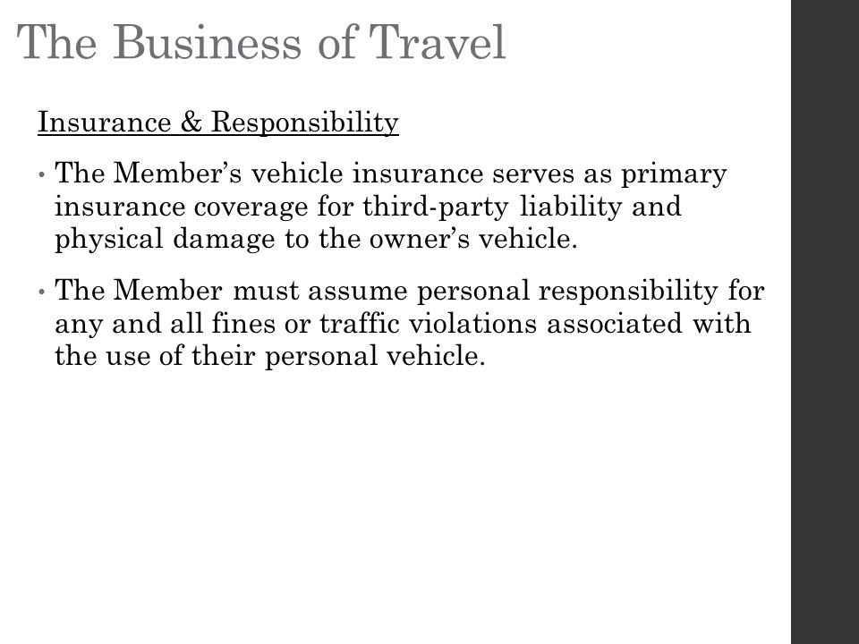The Business of Travel Insurance & Responsibility