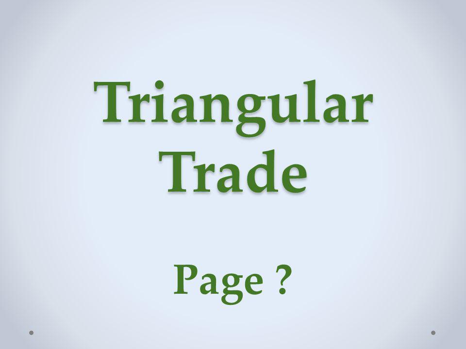 Triangular Trade Page