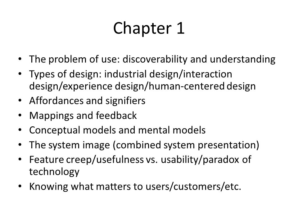 Chapter 1 The problem of use: discoverability and understanding