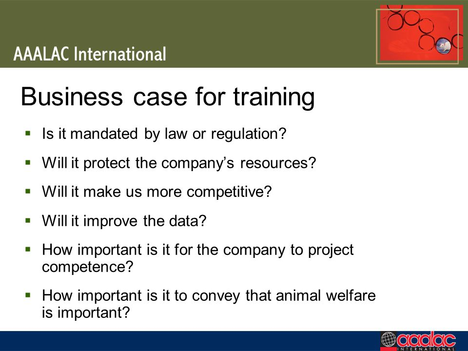 Business case for training