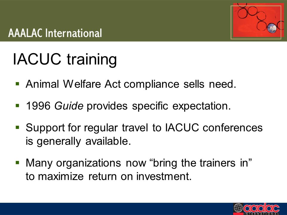 IACUC training Animal Welfare Act compliance sells need.