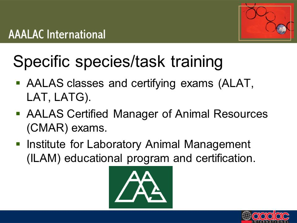 Specific species/task training