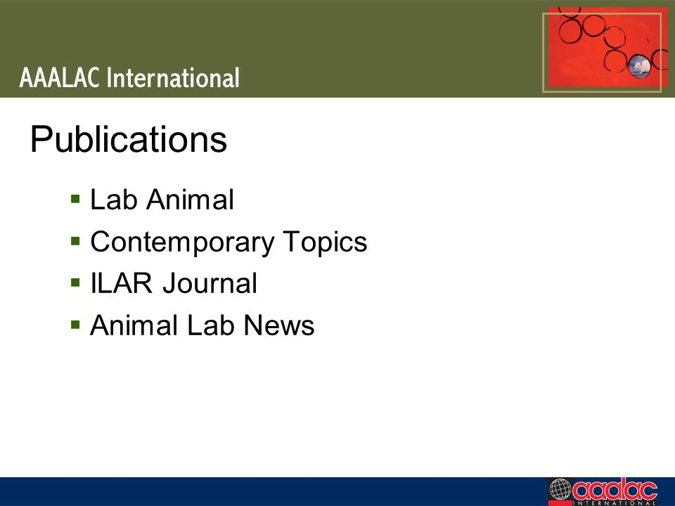 Publications Lab Animal Contemporary Topics ILAR Journal